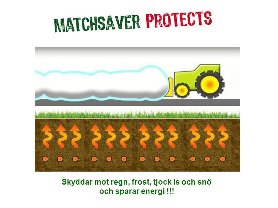 Skyddar mot regn, frost, tjock is och snö