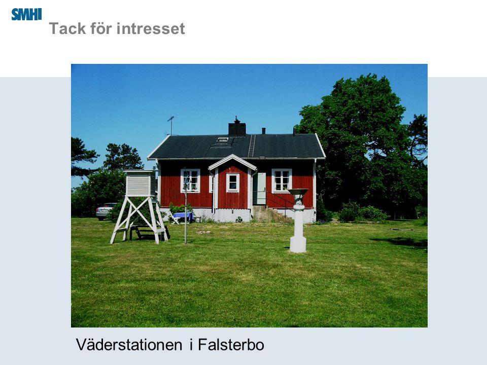 Tack för intresset Väderstationen i Falsterbo