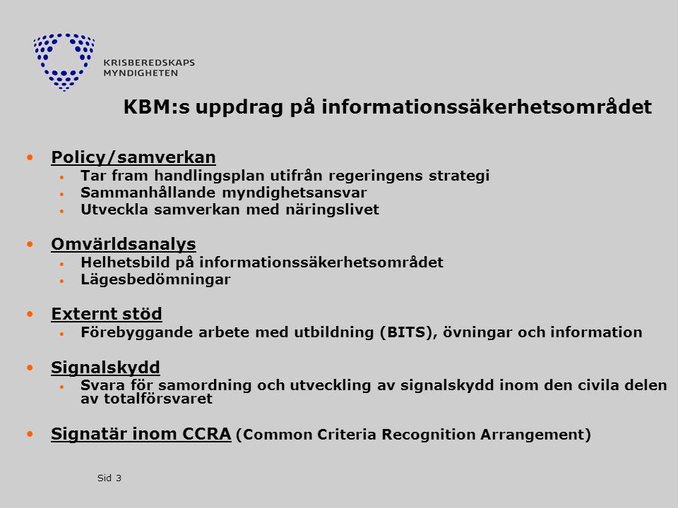 KBM:s uppdrag på informationssäkerhetsområdet