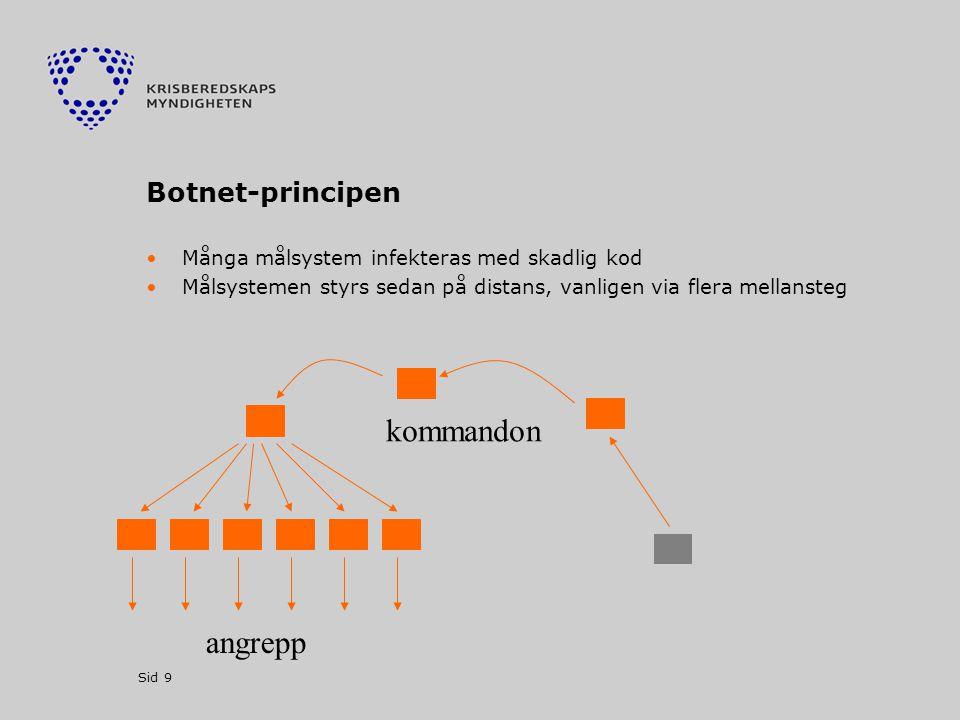 kommandon angrepp Botnet-principen