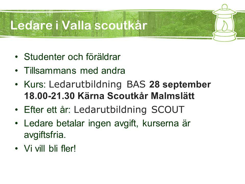 Ledare i Valla scoutkår