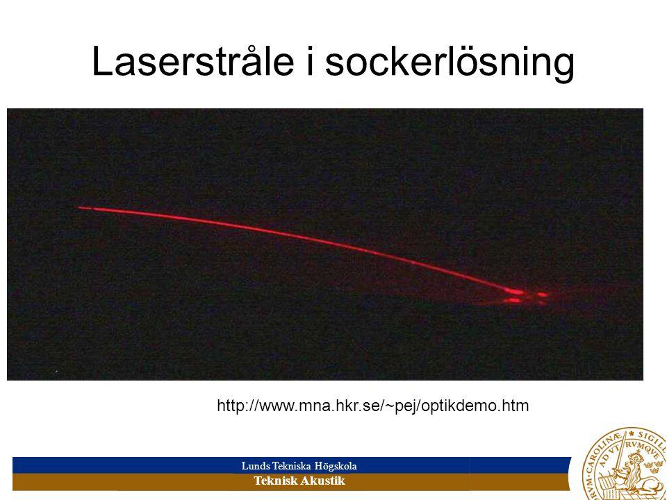 Laserstråle i sockerlösning