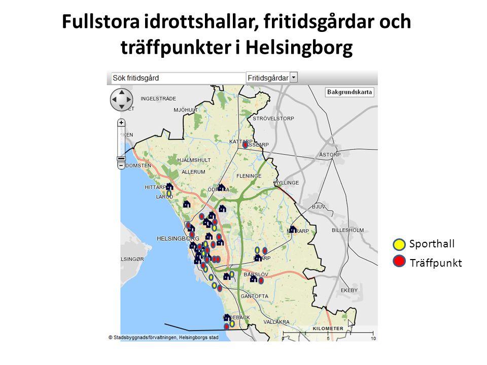 Fullstora idrottshallar, fritidsgårdar och träffpunkter i Helsingborg