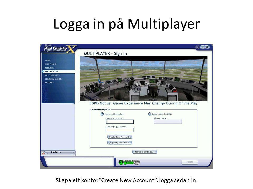 Logga in på Multiplayer
