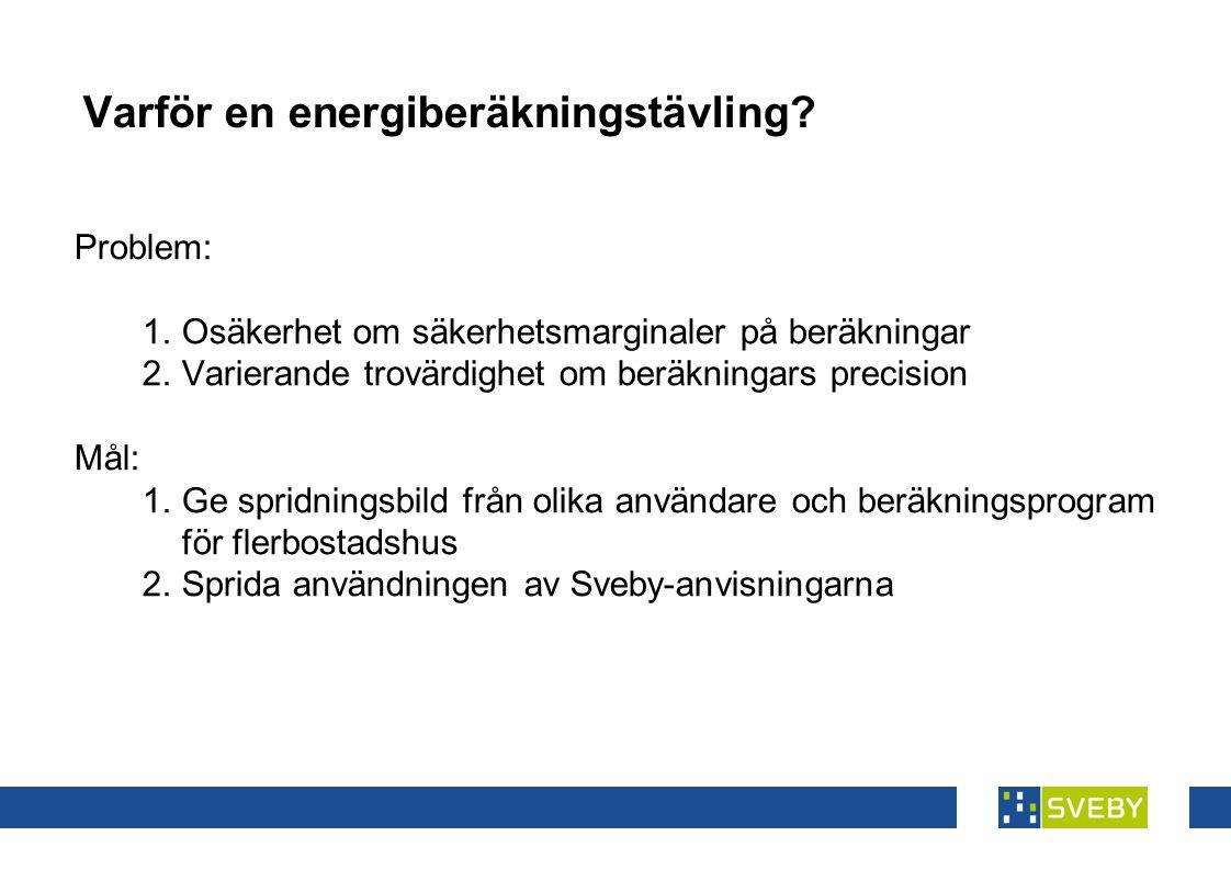 Varför en energiberäkningstävling
