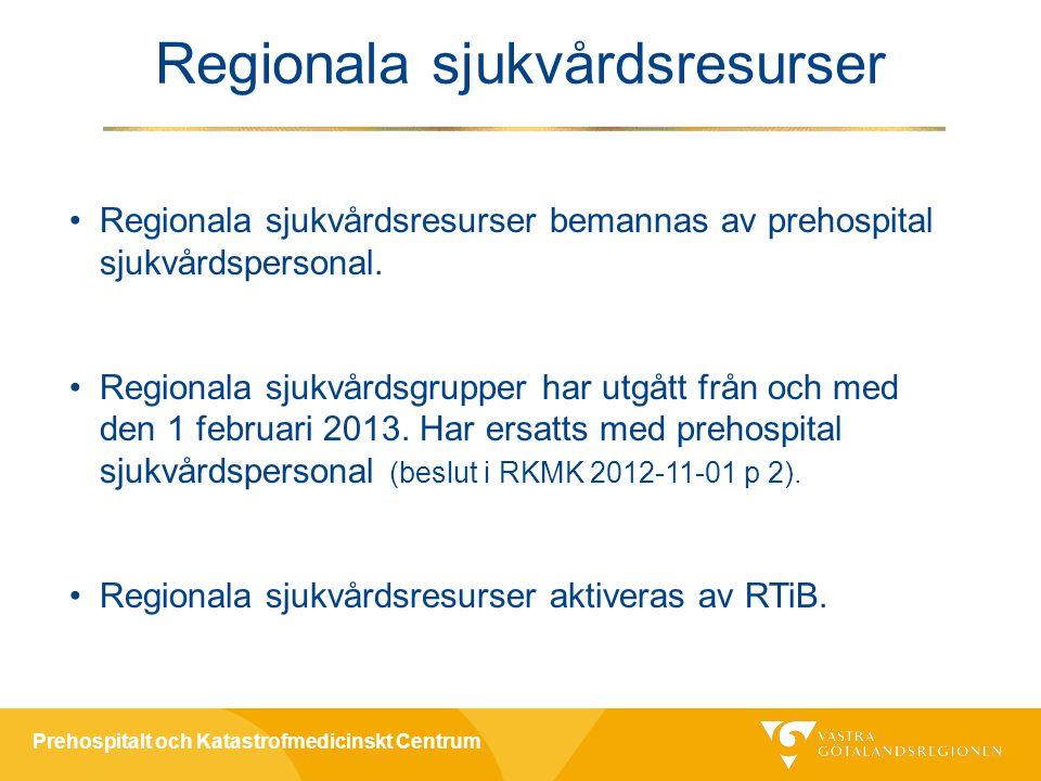 Regionala sjukvårdsresurser