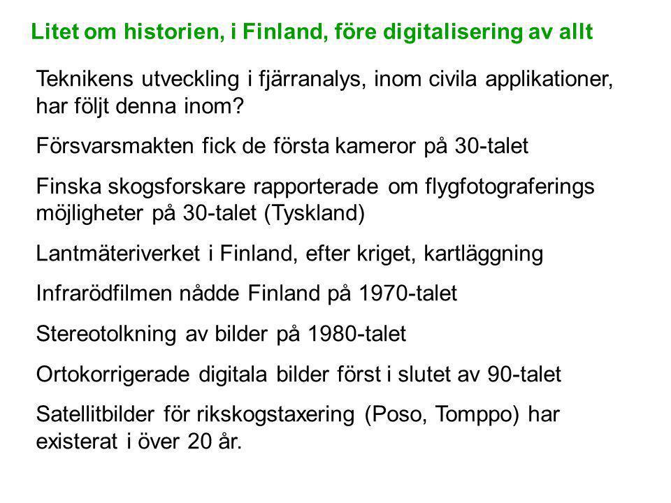 Litet om historien, i Finland, före digitalisering av allt