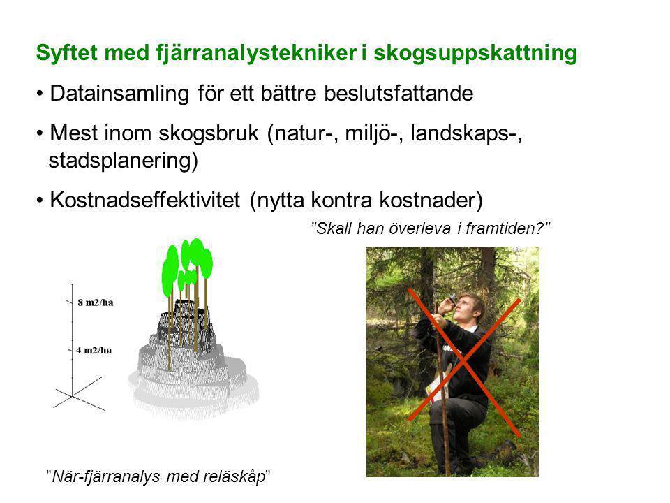 Syftet med fjärranalystekniker i skogsuppskattning