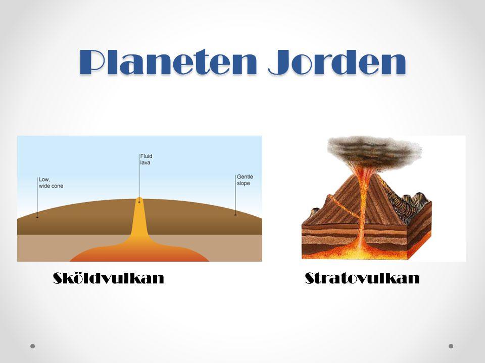 Planeten Jorden Sköldvulkan Stratovulkan