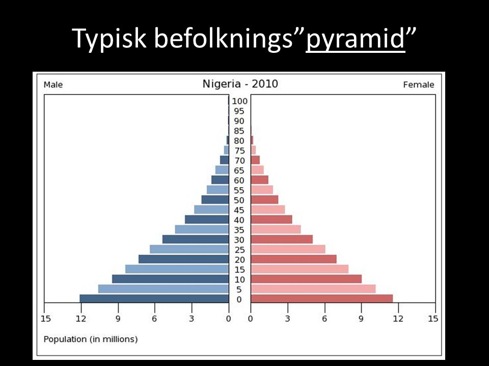 Typisk befolknings pyramid