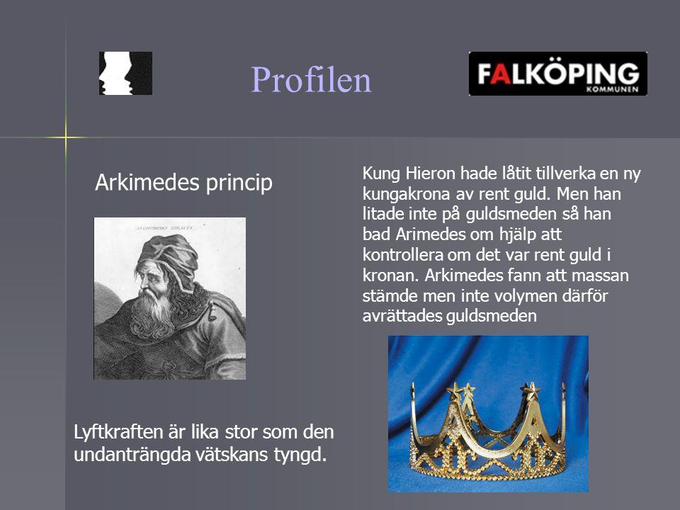 Profilen Arkimedes princip
