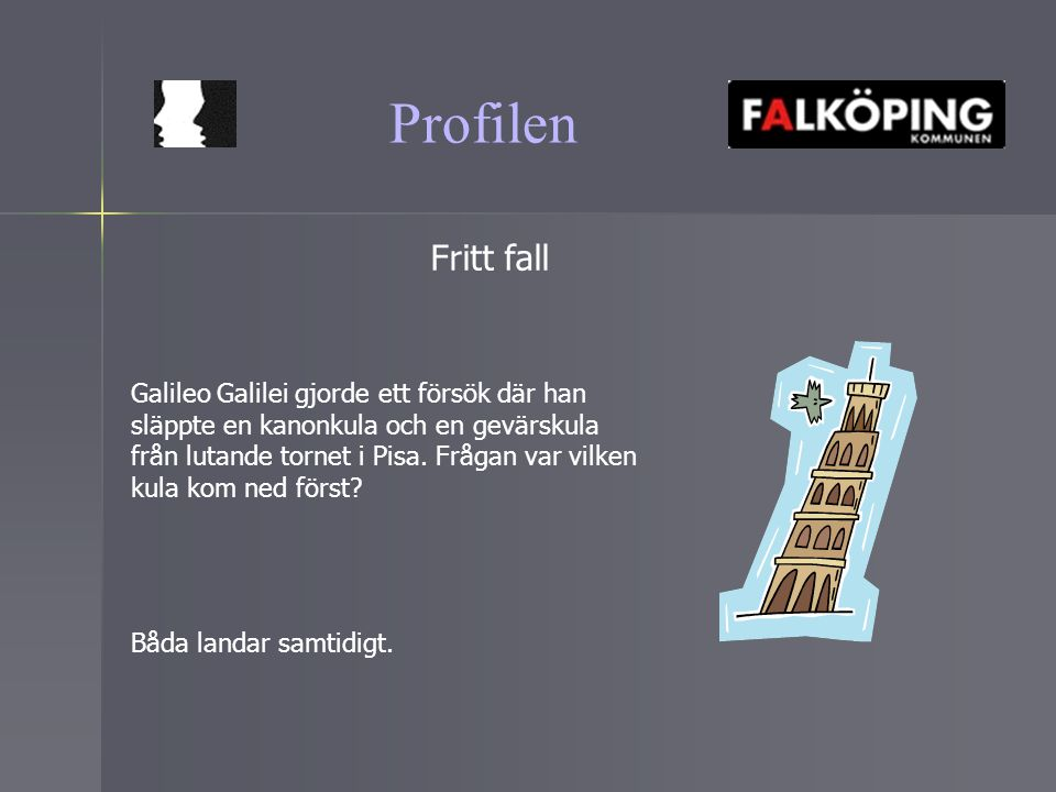 Profilen Fritt fall.