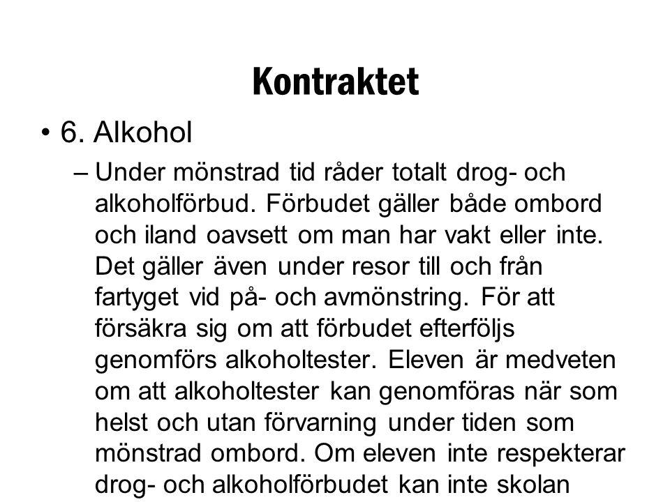 Kontraktet 6. Alkohol.