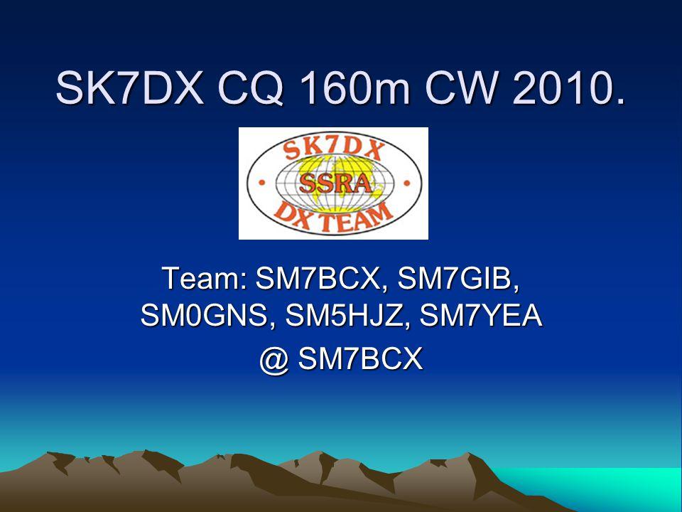 Team: SM7BCX, SM7GIB, SM0GNS, SM5HJZ, SM7YEA @ SM7BCX