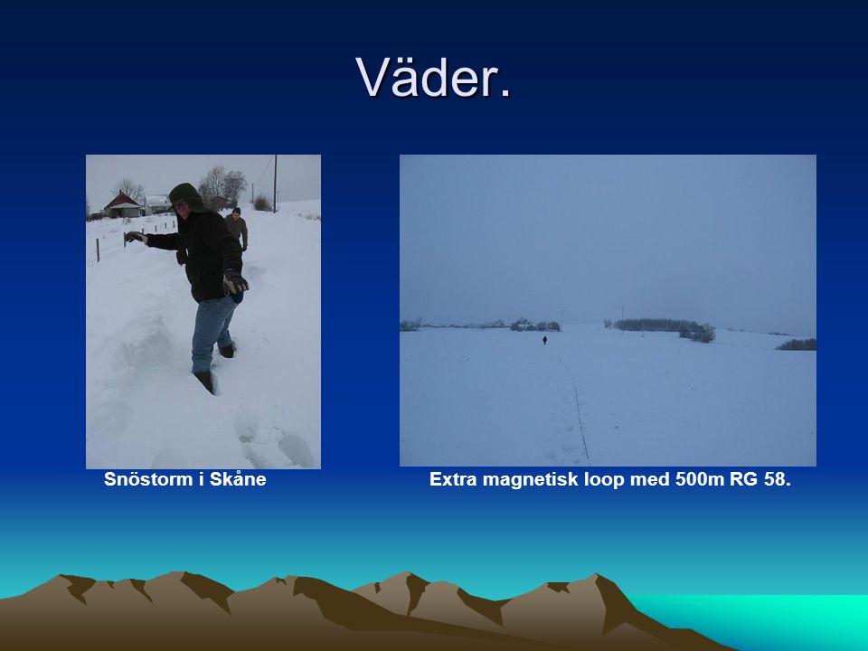 Väder. Snöstorm i Skåne Extra magnetisk loop med 500m RG 58.