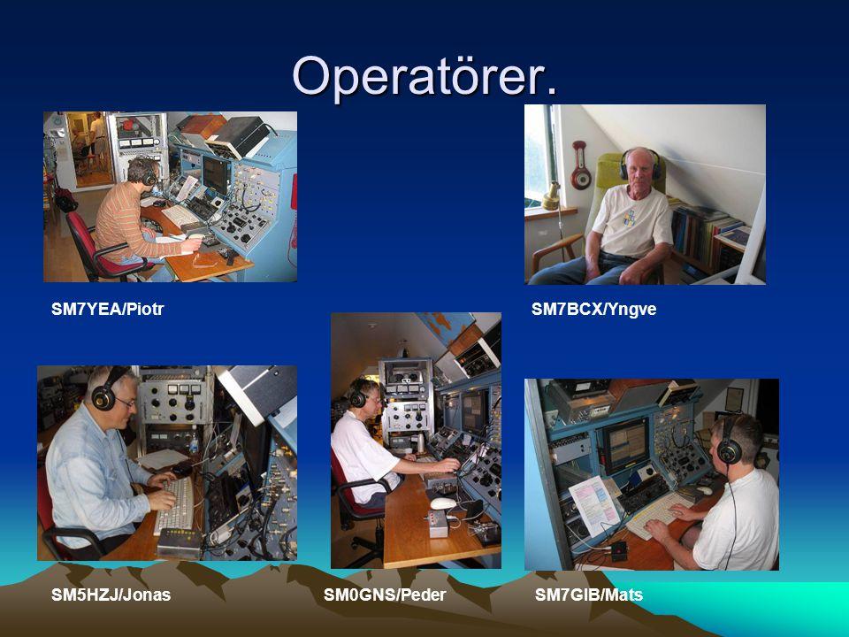 Operatörer. SM7YEA/Piotr SM7BCX/Yngve