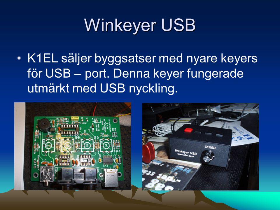 Winkeyer USB K1EL säljer byggsatser med nyare keyers för USB – port.