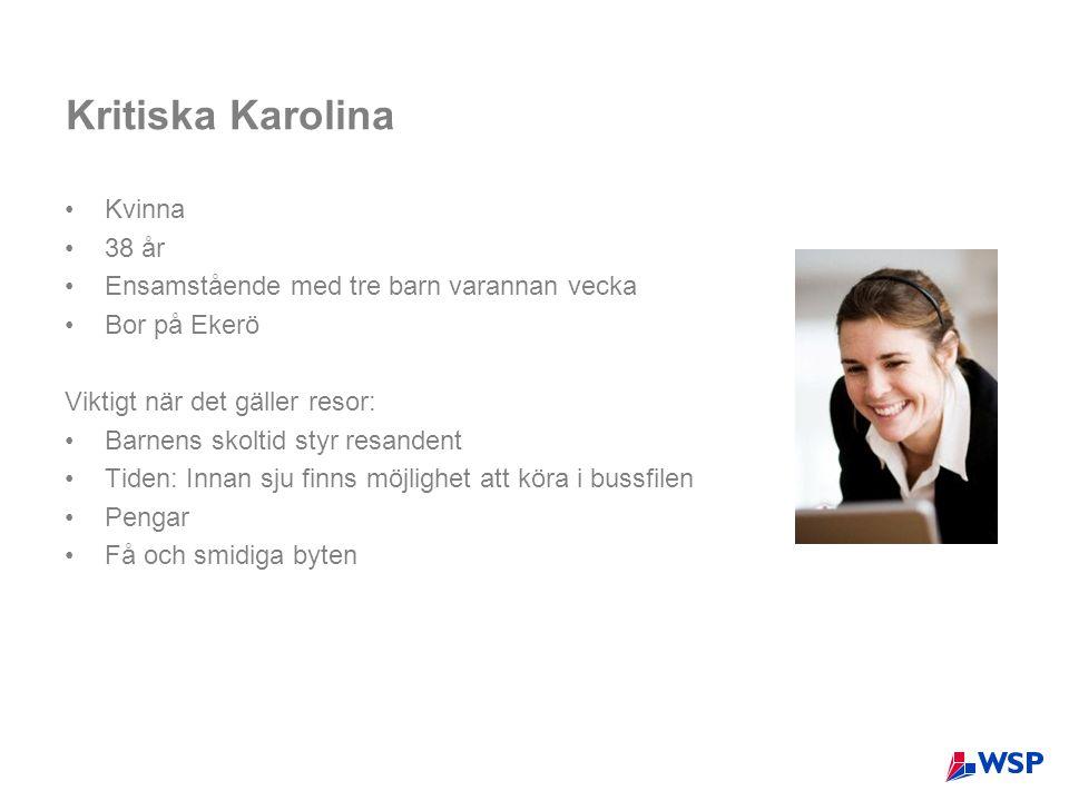 Kritiska Karolina Kvinna 38 år