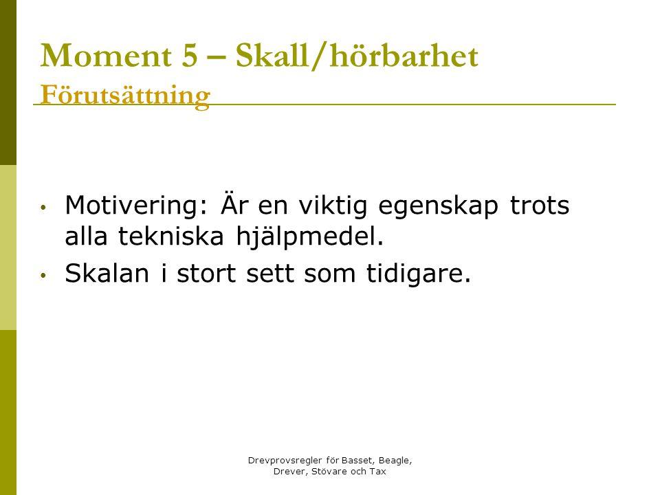 Moment 5 – Skall/hörbarhet Förutsättning