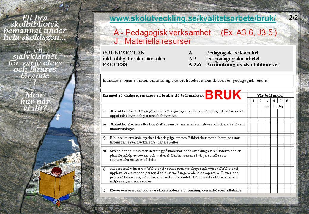BRUK www.skolutveckling.se/kvalitetsarbete/bruk/