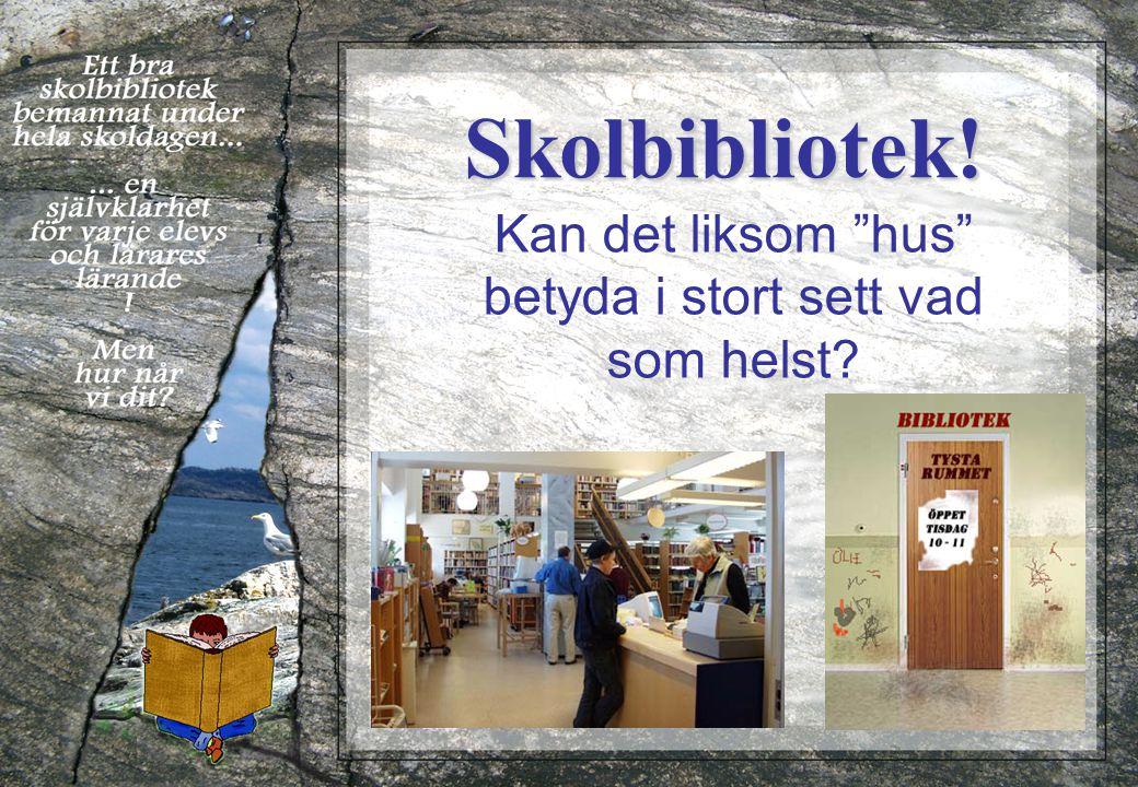 Skolbibliotek och lärande