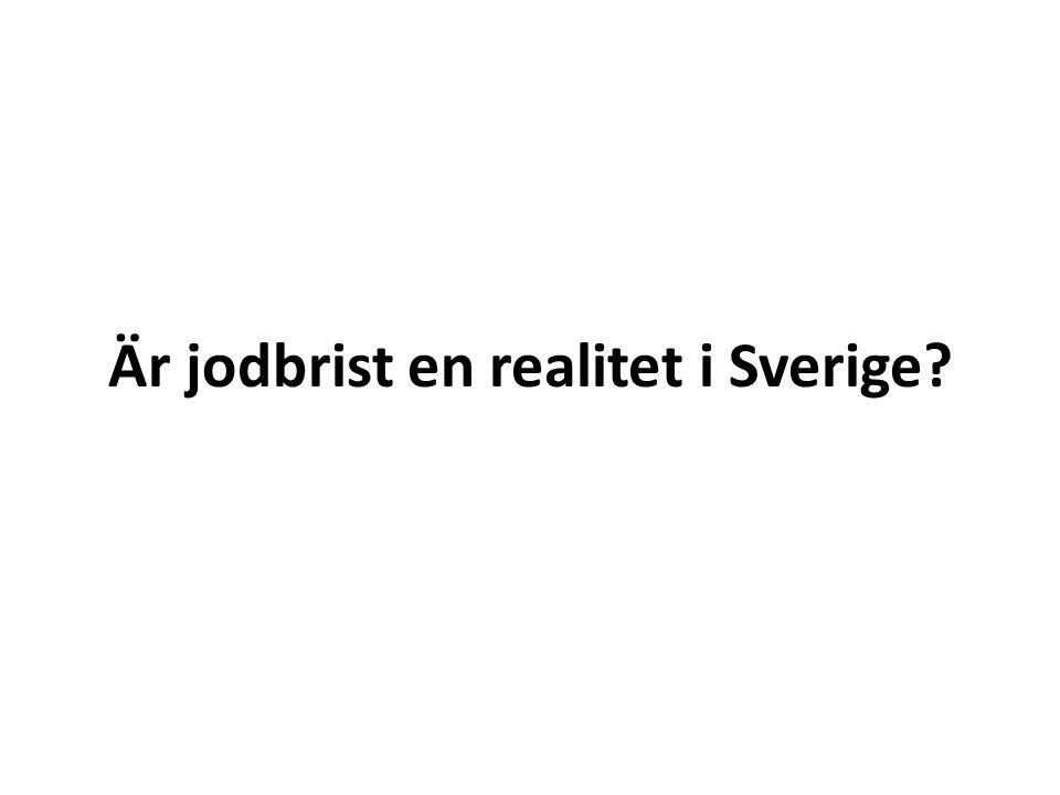 Är jodbrist en realitet i Sverige