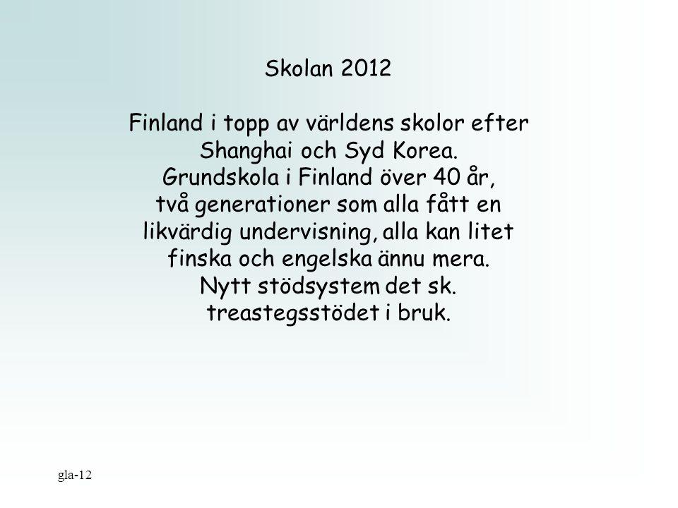 Finland i topp av världens skolor efter Shanghai och Syd Korea.
