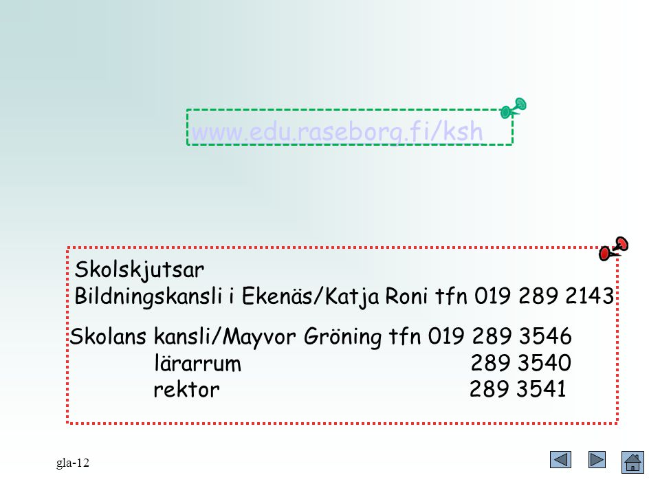 www.edu.raseborg.fi/ksh Skolskjutsar