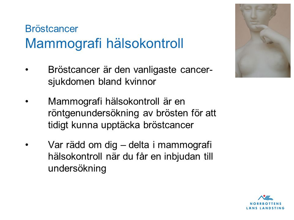 Bröstcancer Mammografi hälsokontroll