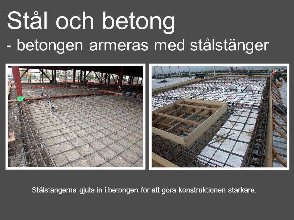Stål och betong - betongen armeras med stålstänger