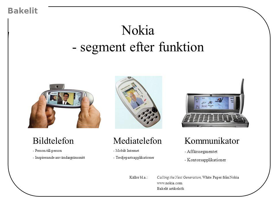Nokia - segment efter funktion