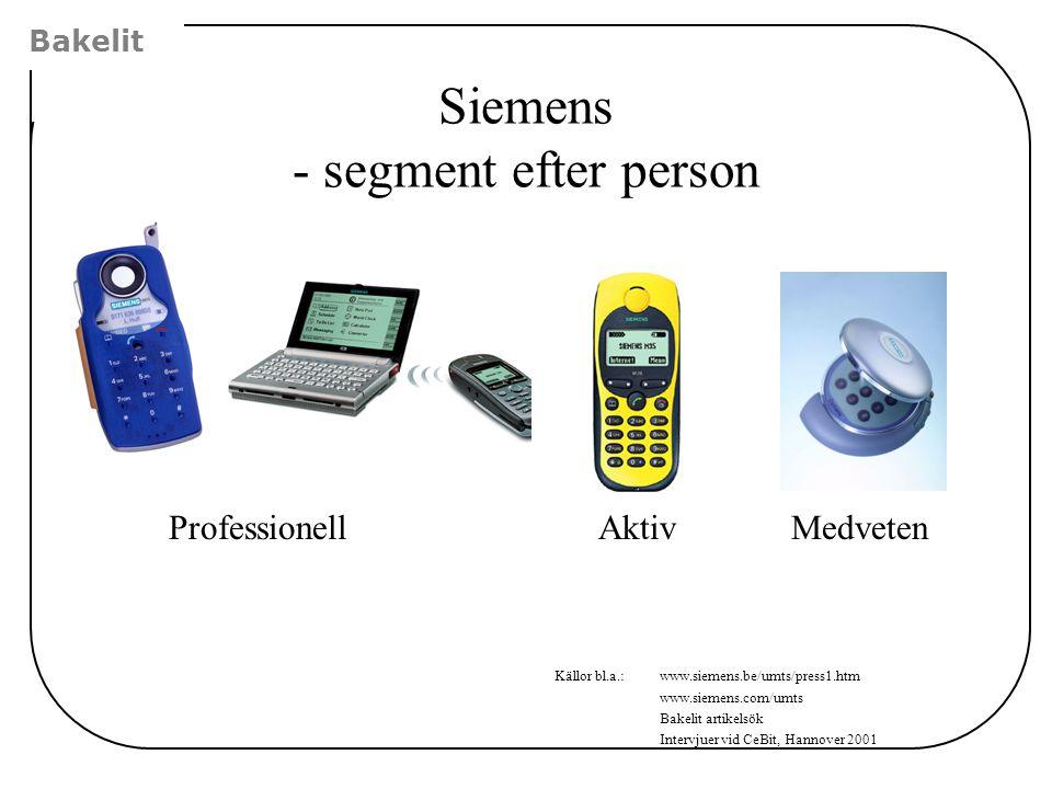 Siemens - segment efter person
