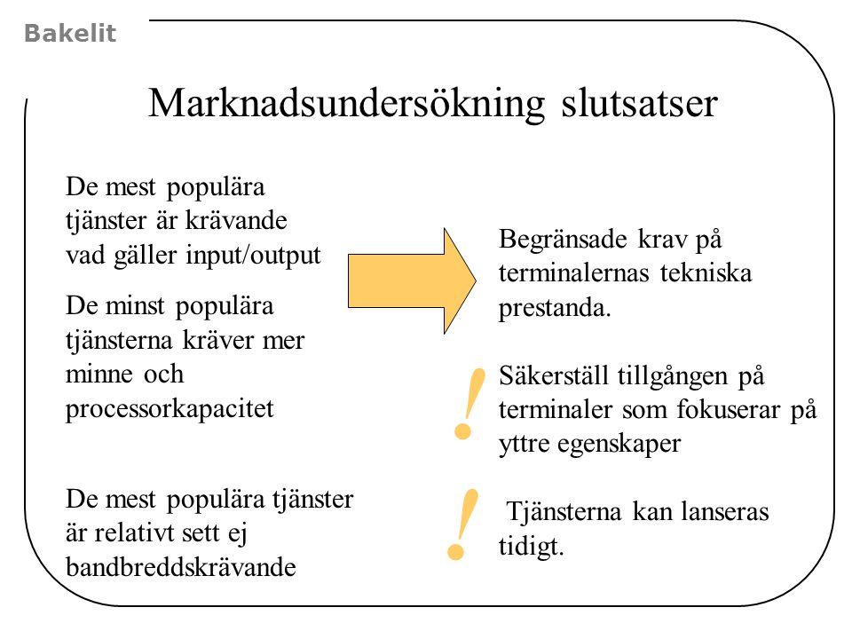 Marknadsundersökning slutsatser