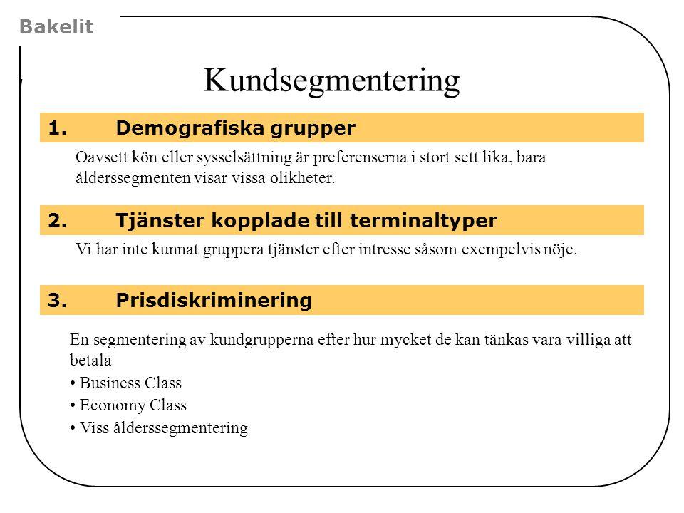Kundsegmentering Bakelit 1. Demografiska grupper