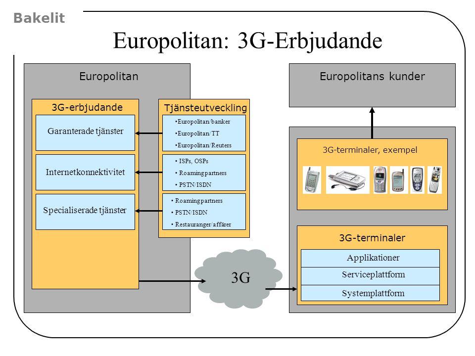 Europolitan: 3G-Erbjudande
