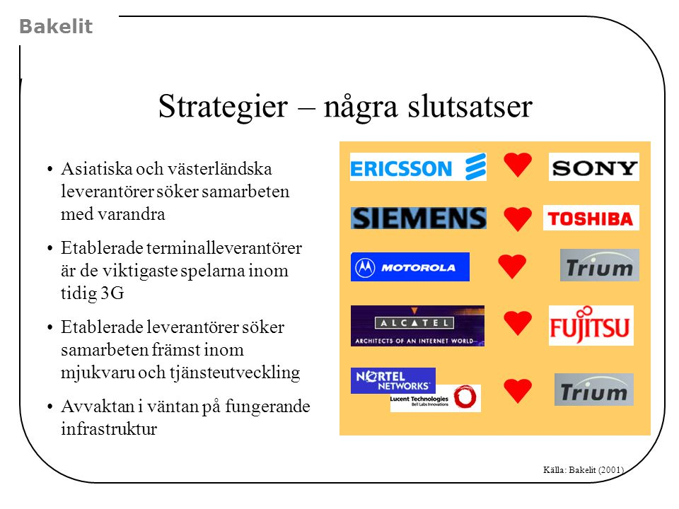 Strategier – några slutsatser