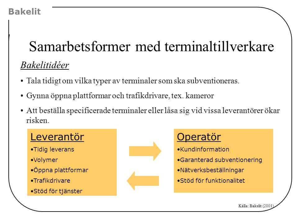 Samarbetsformer med terminaltillverkare