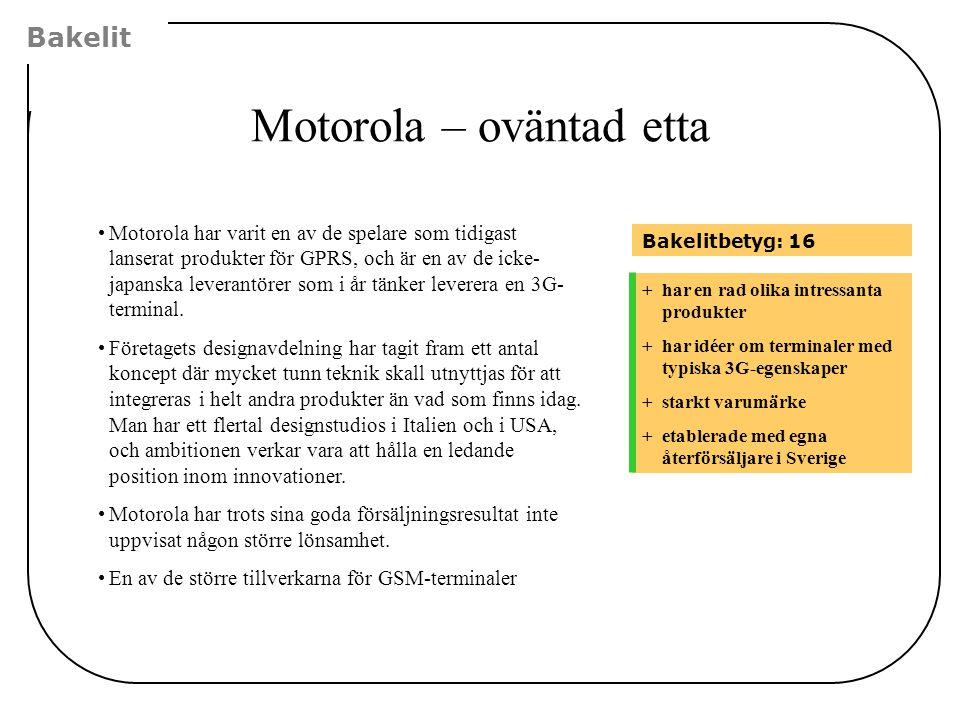 Motorola – oväntad etta
