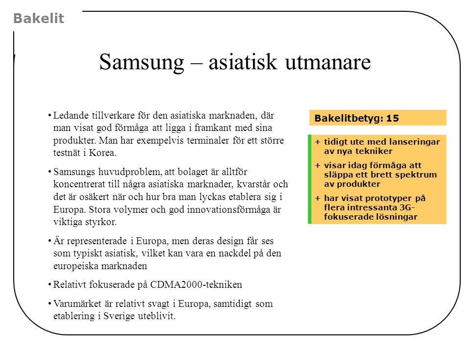 Samsung – asiatisk utmanare