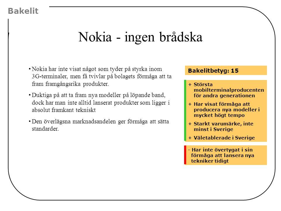 Nokia - ingen brådska Bakelit