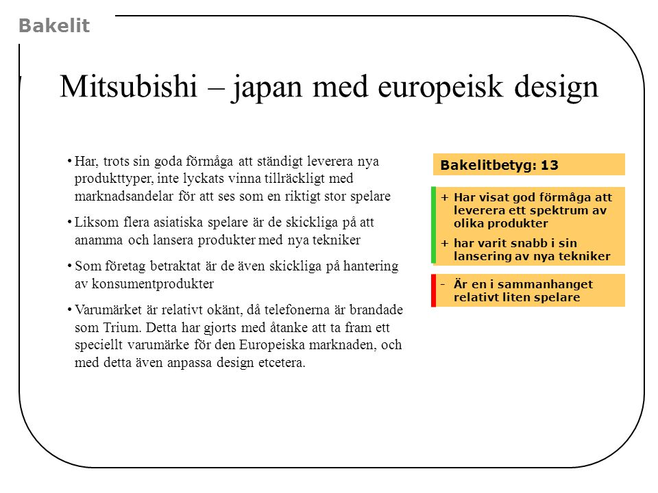 Mitsubishi – japan med europeisk design