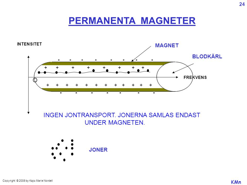 PERMANENTA MAGNETER O INGEN JONTRANSPORT. JONERNA SAMLAS ENDAST
