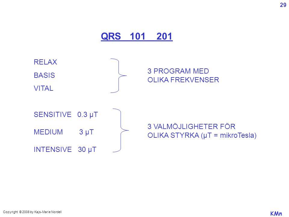QRS 101 201 RELAX BASIS 3 PROGRAM MED VITAL OLIKA FREKVENSER