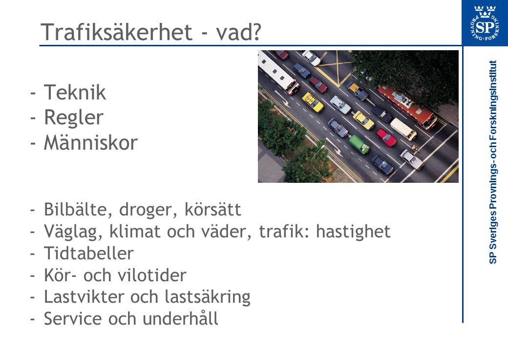Trafiksäkerhet - vad Teknik Regler Människor