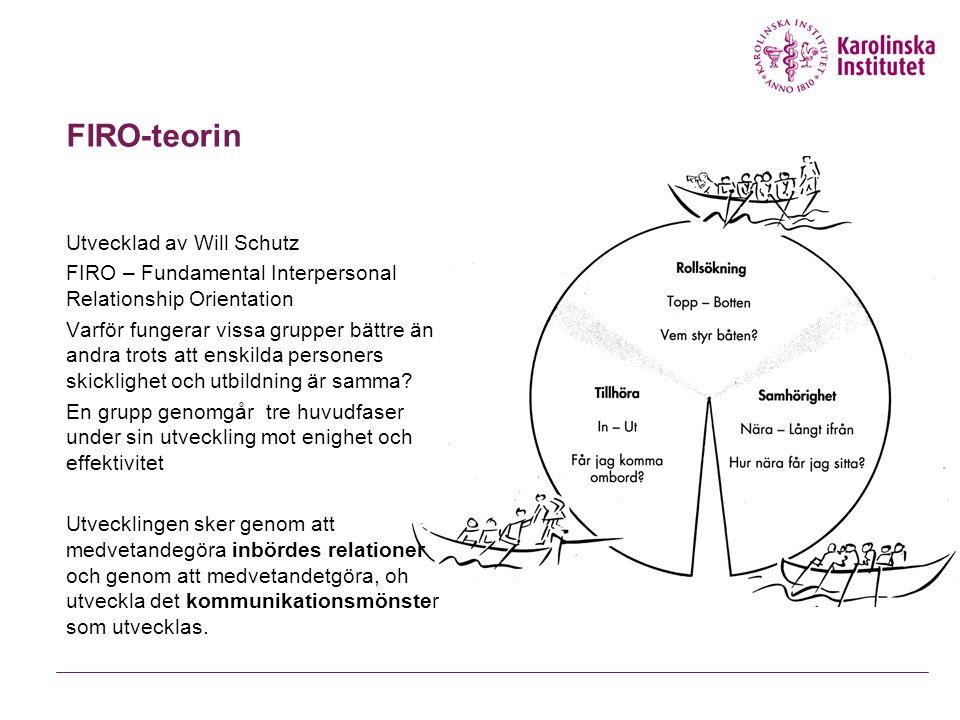 FIRO-teorin Utvecklad av Will Schutz