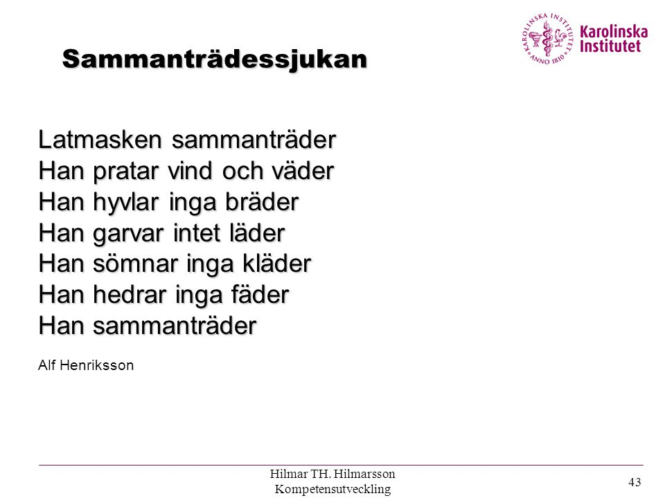 Hilmar TH. Hilmarsson Kompetensutveckling