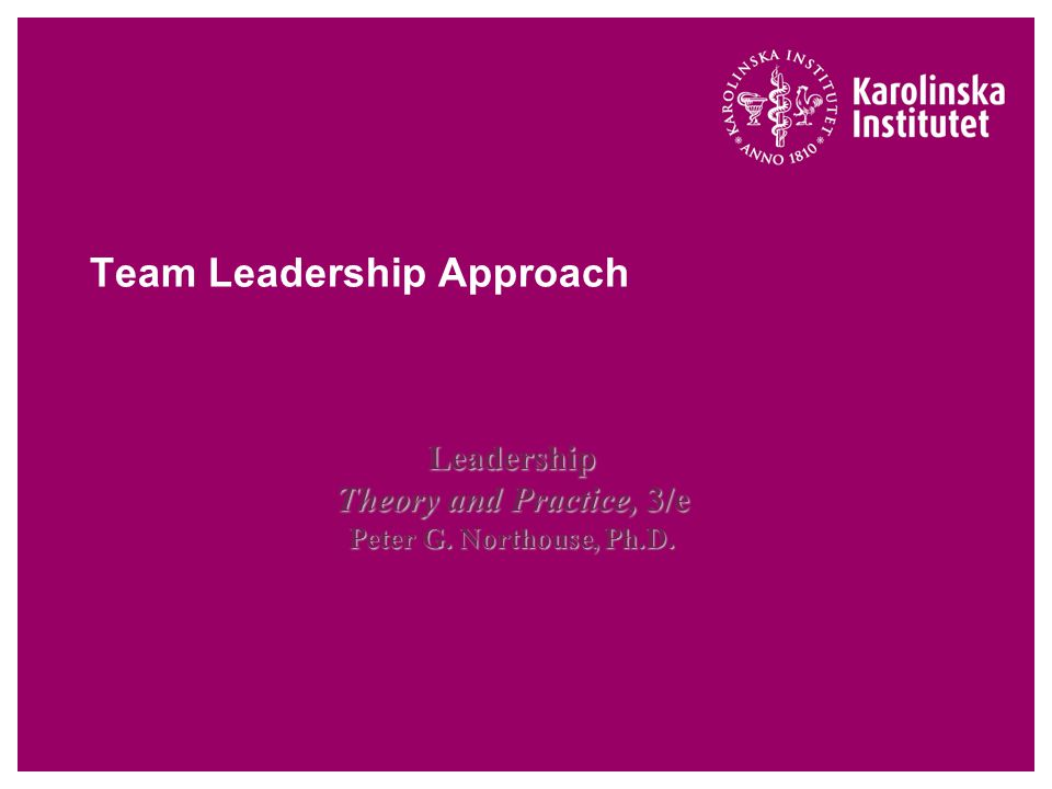 Team Leadership Approach