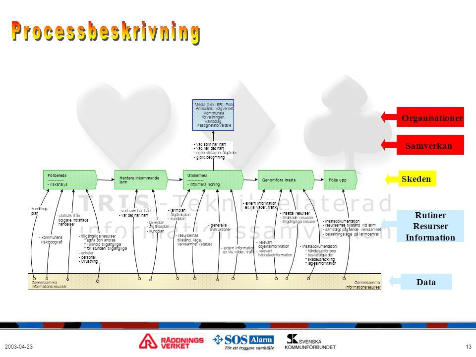 Processbeskrivning Organisationer Samverkan Skeden Rutiner Resurser