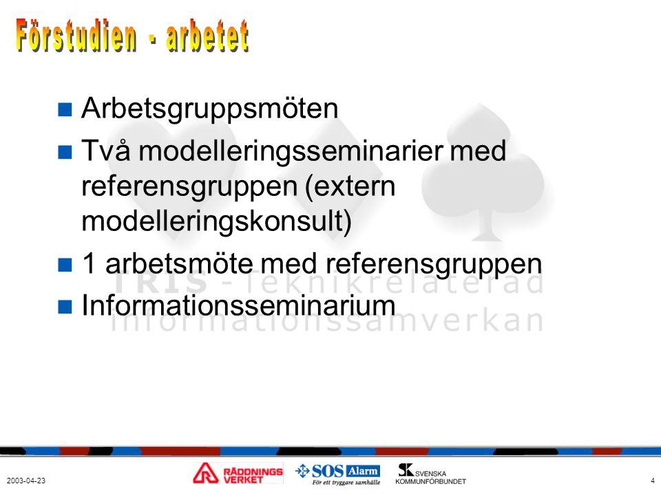 1 arbetsmöte med referensgruppen Informationsseminarium