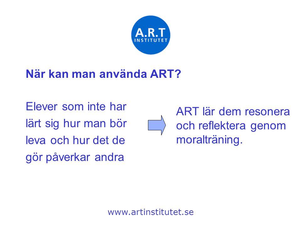 ART lär dem resonera och reflektera genom moralträning.